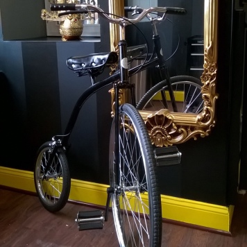 Penny-farthing, a shop-warming gift from a friend