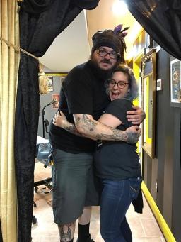 Lindsay hugs