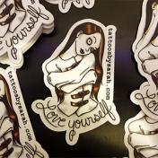 Sarah's Love yourself sticker