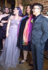 Sheila, Lindsay, PaulaMom, and Eli looking fabulous in a dress